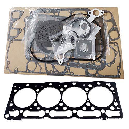 KRRK-parts V1505 Engine Full Gasket set with Head Gasket fits for Kubota Excavator KX71-3 KX71H KX91-2 KX91-2S