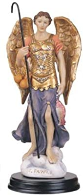"""George S. Chen Imports SS-G-205.55 Archangel Raphael Holy Figurine Religious Decoration Statue, 5"""""""