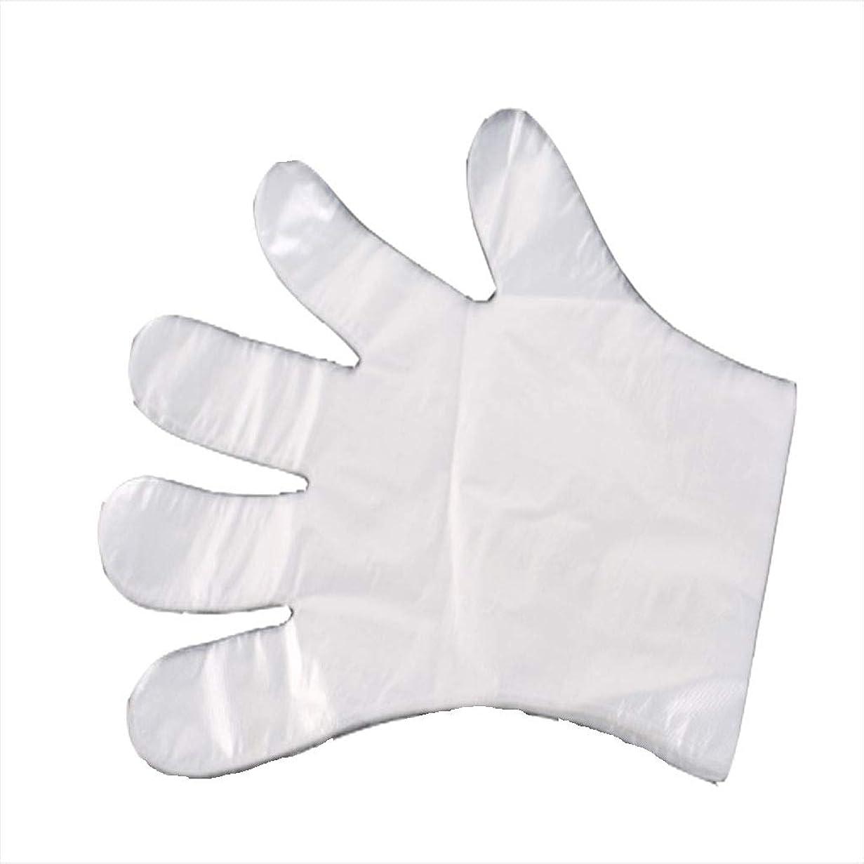 怠けた力強いいくつかの手袋、使い捨て手袋、食事、ヘアケア、肥厚、透明フィルム手袋、肥厚1000。