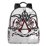 Jupsero Bolsa de viaje Bolsas para portátil A-ssassin's C-reed Backpack Smooth Zipper Travel Bag Laptop Bags ,Suitable for College, School, Casual Daypacks 14.5 x 12 x 5 Inch