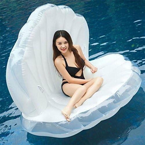 ERHANG Schwimmhilfen Aufblasbares Aufblasbares Perlen-Shell Shell-Muschel-Sofa-Sich Hin- und Herbewegendes Schwimmen Schwimmt Schwimmring-Berg