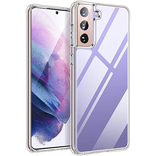 HOOMIL Handyhülle für Samsung Galaxy S21 Hülle Transparent Silikon Schutzhülle für Samsung S21 5G Hülle, Full Clear