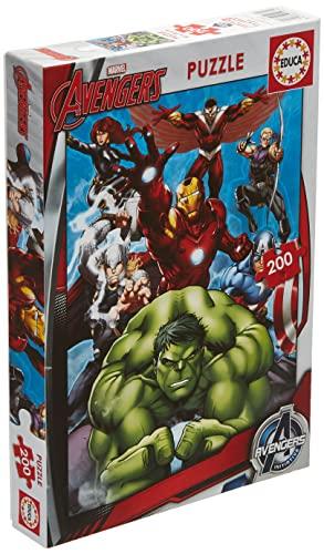 Educa - Avengers, Puzzle infantil de 200...
