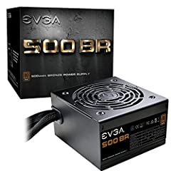 """EVGA 500 BR - """"Bronze reliable"""" 80 plus Bronze certified, with 85% efficiency or higher under typical loads Heavy-duty protections, including OVP, UVP, OCP, OPP, SCP and OTP 3 year warranty & EVGA 24/7 technical support"""