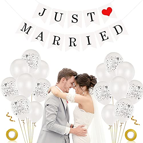 Just Married Decoracion, 40 piezas 12