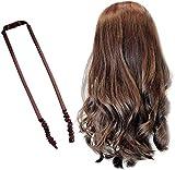 Diadema rizadora sin calor, banda de pelo deportivo, estilo ondulado, para dormir, suave diadema, rodillos, diademas de pelo para mujer, pelo largo (marrón)