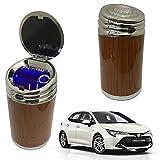 Oshotto High Temperature Portable Wooden Design Car Ashtray for Toyota Corolla