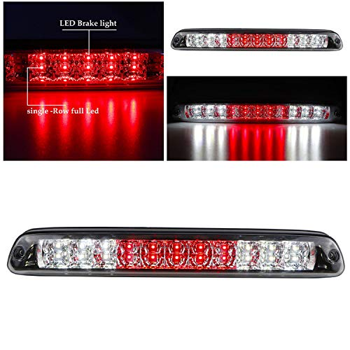 For 2004-2012 Chevy Colorado & GMC Canyon LED 3rd Third Tail Brake Light Cargo Lamp Replacement (Chrome Housing Clear Lens)