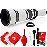 Opteka 650-1300mm High Definition Super Telephoto Zoom Lens for Sony A-Mount Digital SLR Photo Cameras + Premium 8-Piece Cleaning Kit