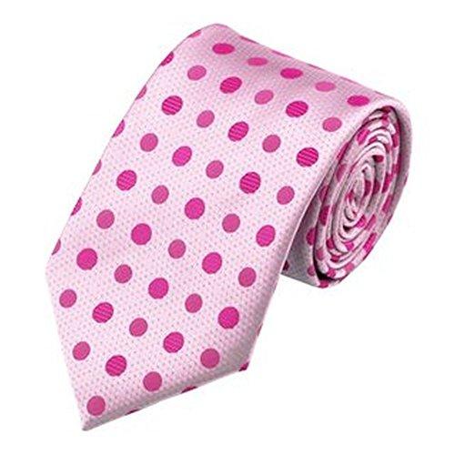 Jason & Vogue Designer Cravate en rose pâle rose pois
