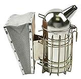 QIMEI Edelstahl Bienen Smoker,Edelstahl Bienenzucht Werkzeug Bee Hive Hitzeschild Raucher Equipment