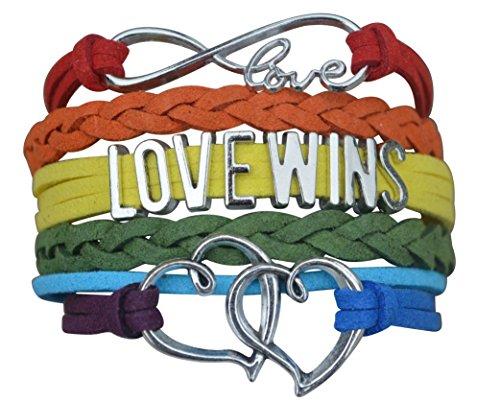 LGBT Bracelet, Love Wins Bracelet- Lesbian Pride Jewelry, Rainbow Pride Bracelet & Perfect Lesbian Gifts