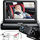 Baby Car Camera for Rear Facing, Itomoro Baby Car Mirror, Backseat Camera with Night Vision, Wide Crystal Clear View, Car Baby Monitor is 360 Degree Rotatable, Easily Observe The Baby's Move