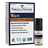 Forces Of Nature -Natural, organic wart Extra Strength Remover (4ml) Non Gmo, No Harmful Chemicals, Nontoxic -Eliminate Planter, Facial, Flat, Body, Hands, Fingers & Foot Warts At The Root