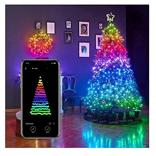Lit Tree Centerpieces Indoor Christmas Deco Color-Changing Lighted Artificial Flower Bonsai USB Powered Tree Lamp Modern Home Decor 5 Feet 128 LED Cherry Blossom Tree Light-RGB with Remote Control