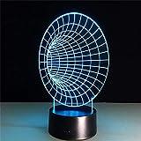 ZCHPDD Acryl Touch Fernbedienung Geschenk Grammophon 3D Illusion Vision Nachtlicht USB Powered 7 Farbe Led Ändern Form Schlafzimmer Licht Wohnkultur Sieben Farben 98 * 98 * 38 Mm...