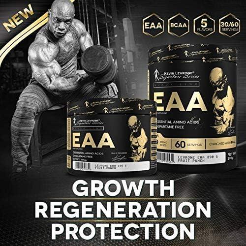 EAA Essential Amino Acids Kevin Levrone, 9 Amino Acids, 60 Servings, BCAA (Mango - Maracuja): Amazon.co.uk: Health & Personal Care