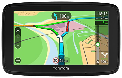 TomTom Via 5312,7cm SAT NAV mit lebenslanger Europäische Karte Updates über WLAN, Lifetime TomTom Traffic, Freisprechen & Sprachsteuerung.