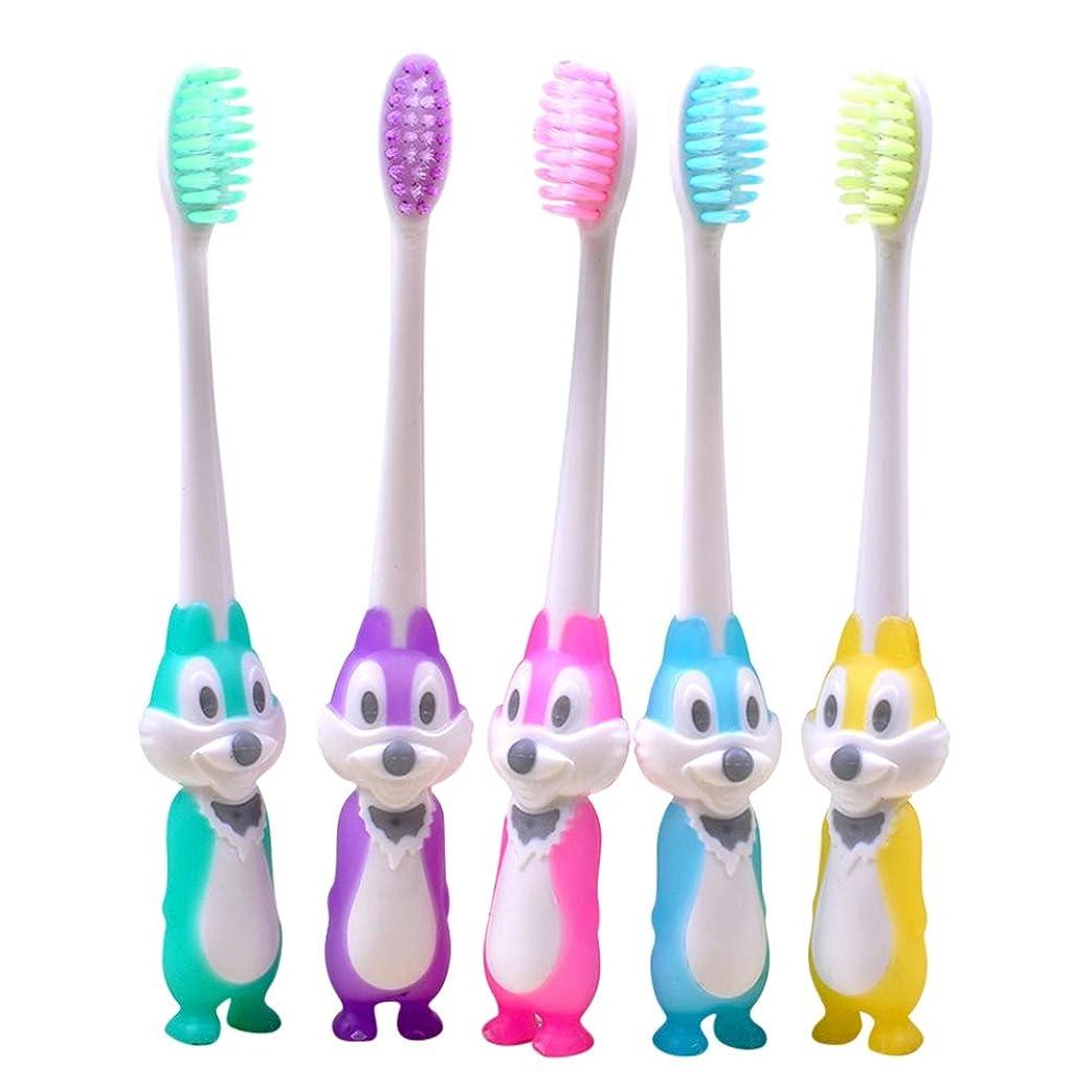 蒸留する条約厚くするRad子供 赤ちゃん漫画形状ソフト歯ブラシ子供歯科口腔ケアブラシツール歯ブラシ