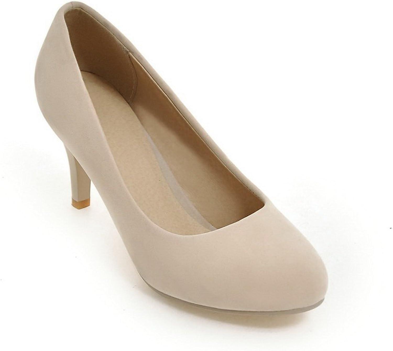 BalaMasa Ladies Low-Cut Uppers Round Toe Xi Shi Velvet Pumps-shoes