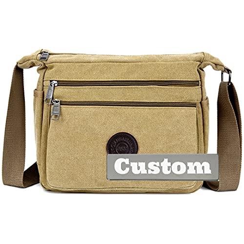 FireH Nome personalizzato Men Messenger Crossbody Bag Borsa per ragazzi Travel Crossbody Borsa a tracolla (Color : Hese, Size : One size)