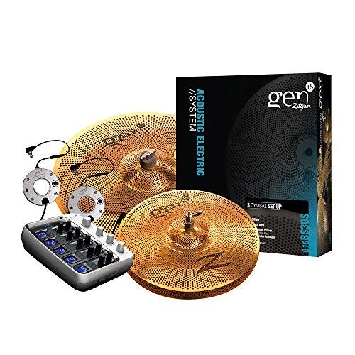 Zildjian Gen16 Series Buffed Bronze Cymbal Set - 13 Zoll Hi-Hat Cymbals, 18 Zoll Crash/Ride