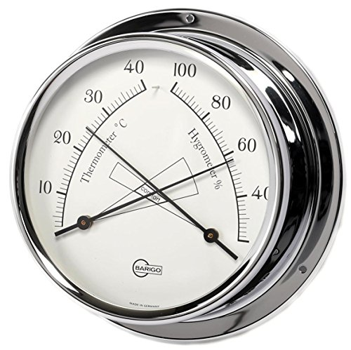 Barigo 984CR Regatta Thermometer Hygrometer analog Chrom 120mm