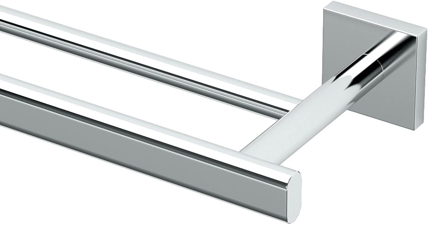 Gatco 4054 Elevate 24  Double Towel Bar, Chrome