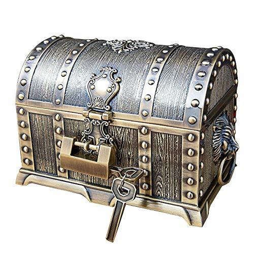Almacenamiento de exhibición de baratijas Caja de gama alta joyería caja caja del tesoro de la decoración del hogar de múltiples capas de la joyería con la cerradura para niñas, mujeres, mujeres