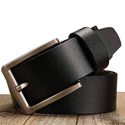 GTUQ Cinturón Cinturón de cinturón de Hombre Cinturón de Cuero for Hombre Cinturón de Cuero de Lujo Pin Hebilla Casual Cinturón de Cinturón Adecuado para Pantalones Casuales, Ropa Formal.