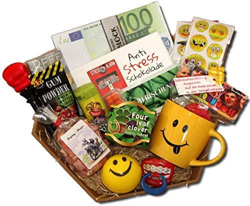 Kollegen Geschenke | Geschenkkorb Büro Firma | Anti-Stress Geschenke Kollegen | Abschiedsgeschenk Kollegen Jobwechsel | Kollege Danke | Lustige Geschenke Arbeit