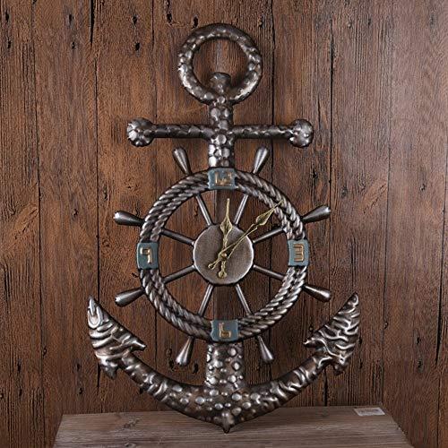 YH Boot Speer Form Retro Wanduhr Persönlichkeit Mute Nicht-tick Tun Alte Bronze Dekoration Uhr Nach Hause Wohnzimmer Schlafzimmer Essbar 40 * 60cm