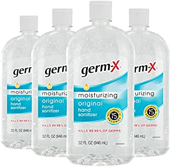 4-Pack Germ-X Hand Sanitizer, Original, 32 Fluid Ounce