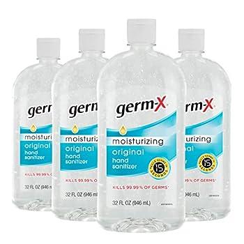 Germ-X Hand Sanitizer Original 32 Fl Oz  Pack of 4  128 Fl Oz