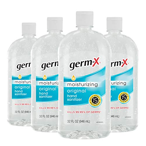 Germ-X Hand Sanitizer, Original, 32 Fluid Ounce (Pack of 4), 128 Fl Ounce