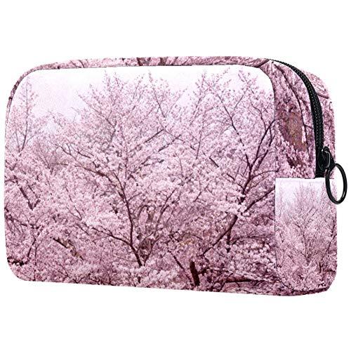 KAMEARI Bolsa de cosméticos rosa flor de cerezo grande organizador de bolsas de viaje multifuncionales
