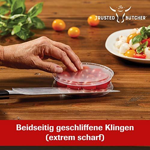 Mediashop Trusted Butcher Messer Set – hochwertiges Profi Kochmesser Set – ultrascharfe Klingen in Metzger-Qualität – inklusive Bratenthermometer – 4-TLG.   Versand Edition in neutraler Verpackung - 3