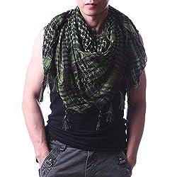 Stylezee Unisex Cotton Arafat Scarves, Large (Green)