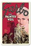 Pacifica Island Art El Velo Pintado - Protagonizada por Greta Garbo y Herbert Marshall - Póster de película c.1934 - Letrero de Metal 20x30cm