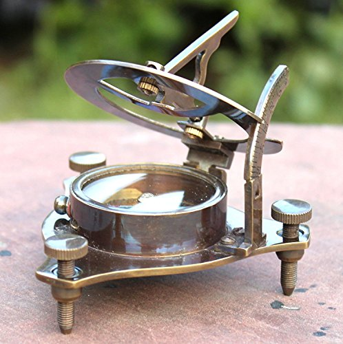 Vintage Antik-Stil Messing Sonnenuhr Kompass Maritim Nautischen Kompass Schreibtisch Dekor