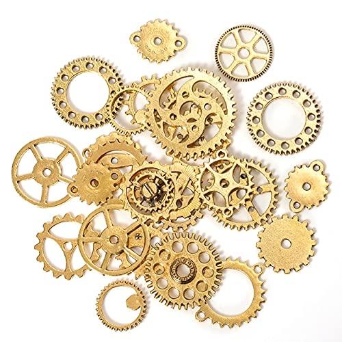 DUNGS 50g 100g Metal Mezclado Mecánico Steampunk Cogs & Gears Charms Vintage 10 Colores Material Artesanal para Hacer Joyas Accesorios de Bricolaje