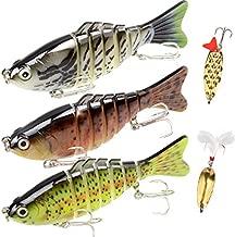 Fishing Lures Bass Lures Set,Fishing Lures for Bass Multi Jointed Swim baits Slow Sinking Hard Lure Fishing Tackle Kits Lifelike (3.9)