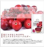【無添加】100%クランベリー パウダー 順造生活 120g(Lサイズ)【SUPER FOODスーパーフード】