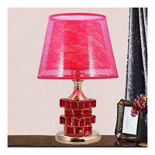 Crystal Table Lamp, European Style Table Lamp, Slaapkamer Nachtlampjes Creative Simple Modern Creative Rubik's Cube Book Lights (rood)