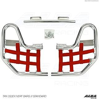 TRX 250EX, TRX250EX SPORTRAX (2001-2008) Standard Nerf Bars - Compatible with Honda - Silver Bars - Compatible with Honda - w/Red Net