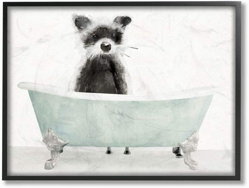 Finally popular brand Stupell Industries Raccoon in A Animal Store Drawin Tub Funny Bathroom