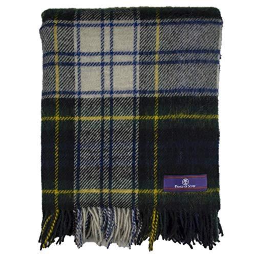 Prince of Scots Highland - Manta de tweed (100% lana pura), diseño de tartán