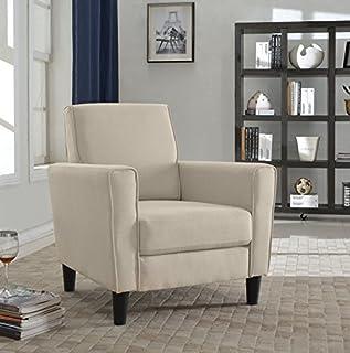 US Pride Furniture Contemporary Solid Colored Fabric Accent Chair, Beige (B01C08OTGK)   Amazon price tracker / tracking, Amazon price history charts, Amazon price watches, Amazon price drop alerts