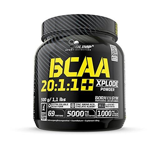 Olimp BCAA 20:1:1 Xplode Powder | Aminosäuren mit Citrullin für einen extremen Muskelpump | Birne Geschmack | 500 g