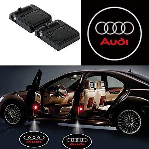 Bearfire 2 Pcs Wireless Car Door Led Welcome Laser Projector Logo Light Ghost Shadow Light Lamp Logos (fit Audi)